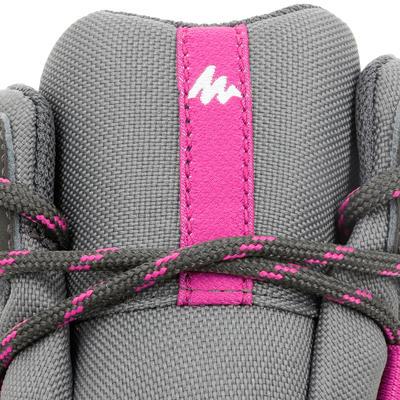 Botas de senderismo en montaña niños MH500 Mid impermeable Gris/Rosado