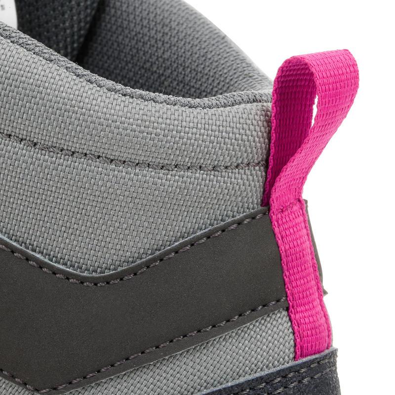 Bototos de senderismo de montaña niños MH500 Mid impermeable Gris/Rosado