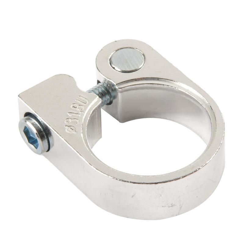 Zadelklem schroef 32 mm zilver