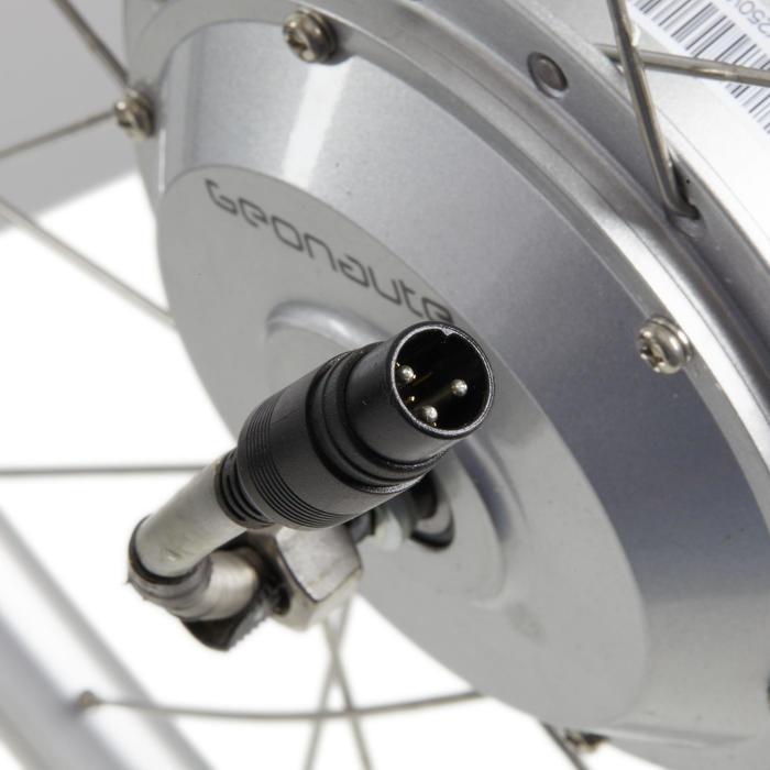 Voorwiel voor elektrische fiets 28 inch Nexus 24V Elops 7 zilver