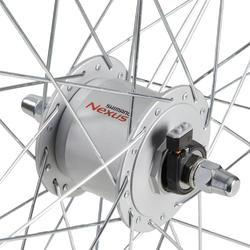 roue velo ville 28 pouces avant double parois v-brake dynamo noir