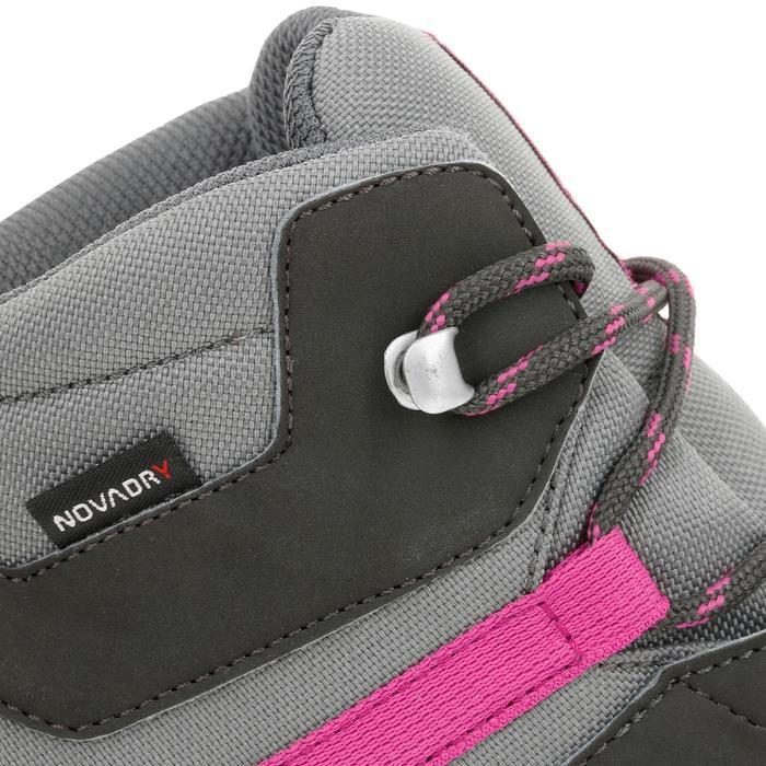 Wanderschuhe MH500 Mid wasserdicht Kinder grau/rosa