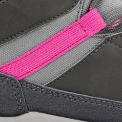 Children's waterproof mountain walking shoes MH 500 high - grey/pink
