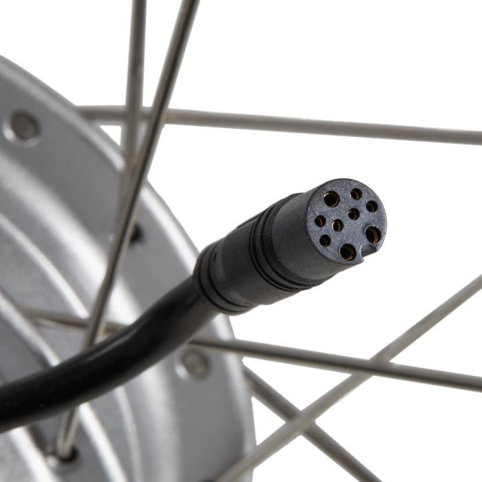 Rueda bicicleta eléctrica 28 trasera doble pared 24v plateada rosca