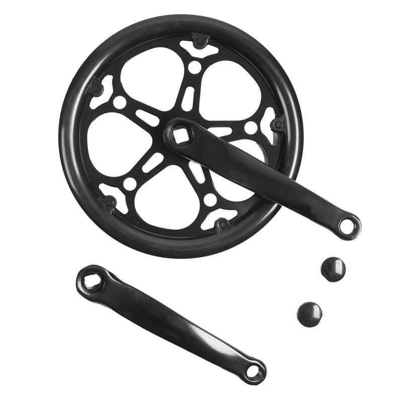 Crankstel met 1 kettingblad 52T 152 mm zwart