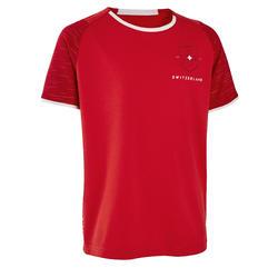Zwitserland voetbalshirt FF100 kind supportershirt EK 2020 rood