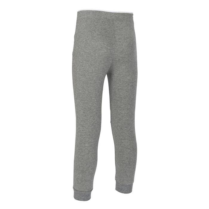 女童與男童輕盈嬰幼兒健身長褲500 - 藍色/灰色