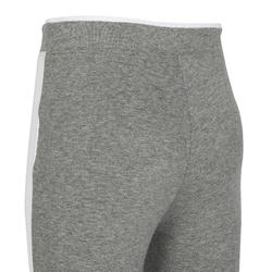 Girls' and Boys' Light Baby Gym Bottoms 500 - Blue/Grey