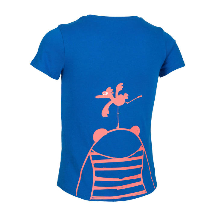 女童與男童短袖嬰幼兒健身T恤100 - 寶石藍