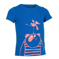 Boys' and Girls' Short-Sleeved Baby Gym T-Shirt 100 - Sapphire Blue