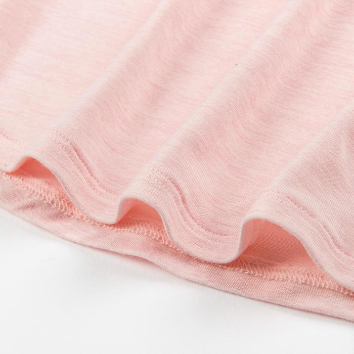 女童與男童嬰幼兒健身T恤500 - 粉色/天空藍