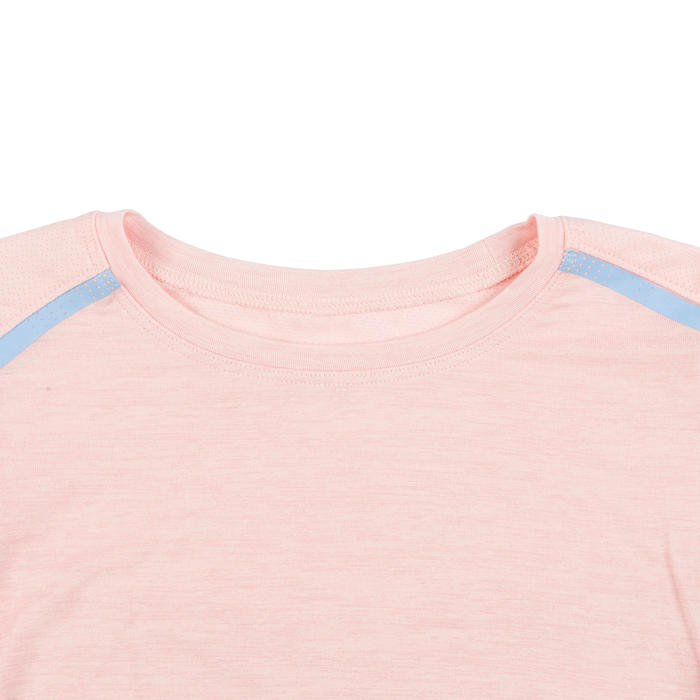 Girls' and Boys' Baby Gym T-shirt 500 - Pink/Sky Blue