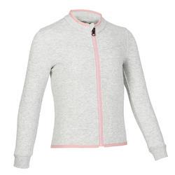 女童與男童嬰幼兒健身外套500 - 淺灰色/粉色