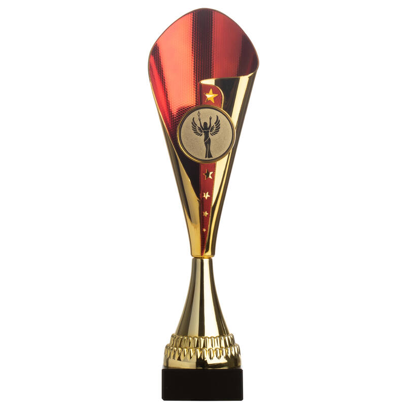SPORTOVNÍ CENY Fotbal - POHÁR C530 ZLATO-ČERVENÝ 37 CM WORKSHOP - Vybavení pro hráče a kluby