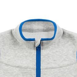女童與男童無袖嬰幼兒健身外套500 - 灰色/藍色