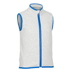 Girls' and Boys' Sleeveless Baby Gym Jacket 500 - Grey/Blue