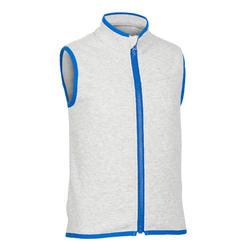 Girls' and Boys' Sleeveless Baby Gym Jacket 500 - Grey/Blue