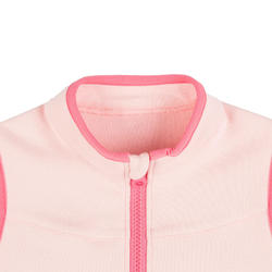 Girls' and Boys' Sleeveless Baby Gym Jacket 500 - Pink