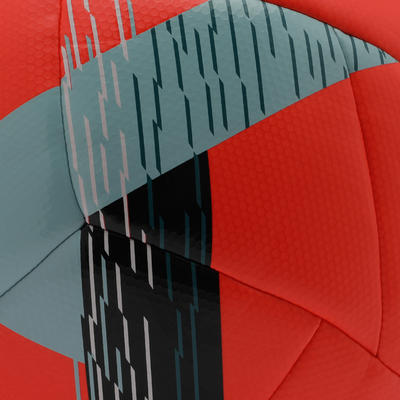 Ballon de football Hybride F550 taille 5 rouge
