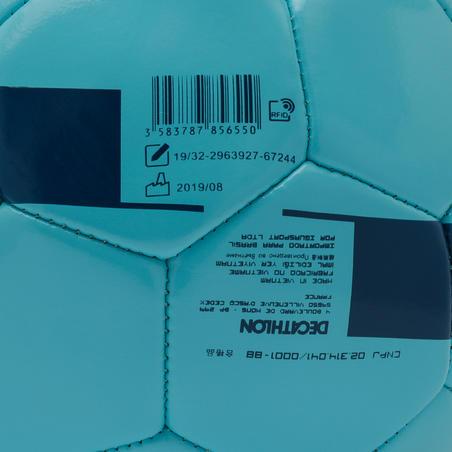 Balón de fútbol F100 talla 3 (< 8 años) azul