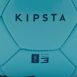 Voetbal F100 maat 3 (tot 8 jaar) blauw