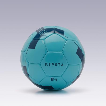 Ballon de football F100 taille 3 (< 8 ans) bleu