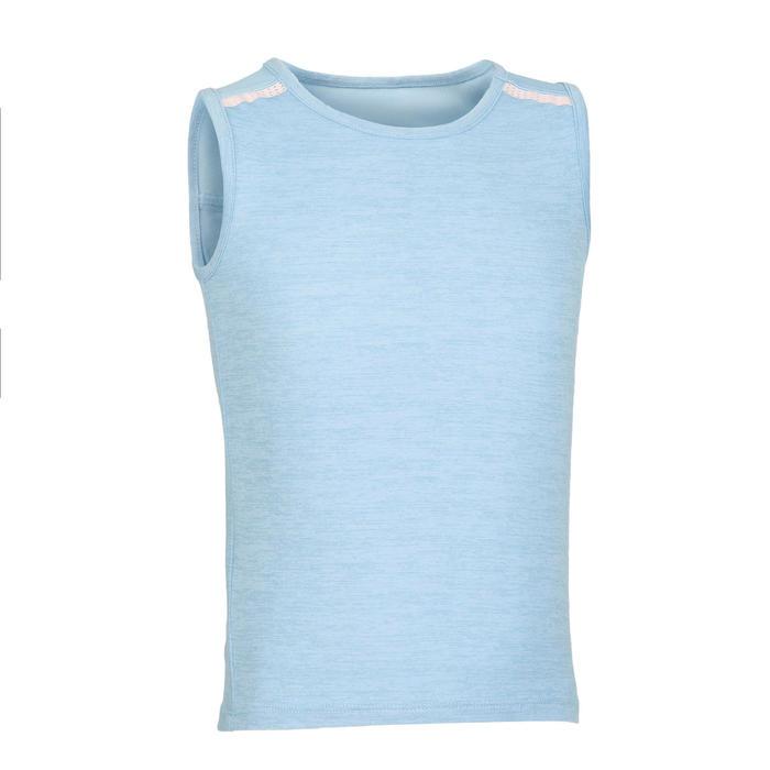 女童與男童嬰幼兒健身背心500 - 藍色/粉色