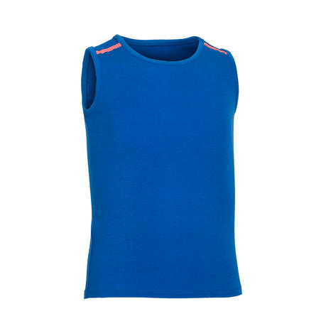 Girls' and Boys' Baby Gym Tank Top 500 - Blue/Coral