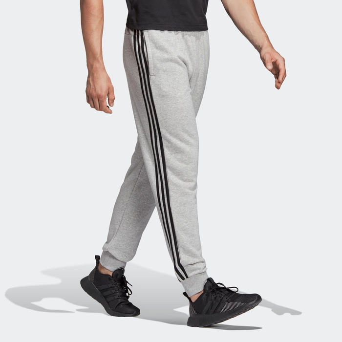 Gymbroek voor heren Adidas 3 strepen grijs