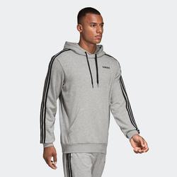 Hoodie 3-stripes grijs