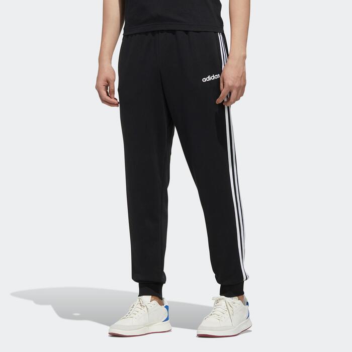 Cubo esperanza Usual  Pantalón chándal Adidas hombre 3S regular negro blanco ADIDAS   Decathlon