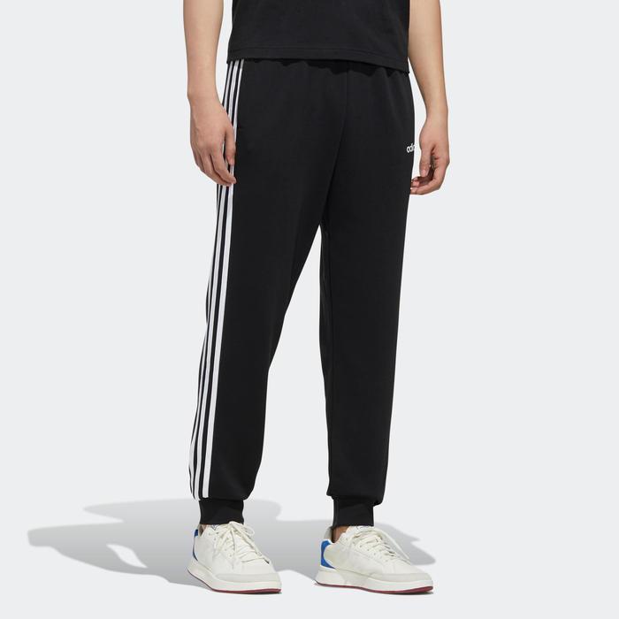 Cubo esperanza Usual  Pantalón chándal Adidas hombre 3S regular negro blanco ADIDAS | Decathlon