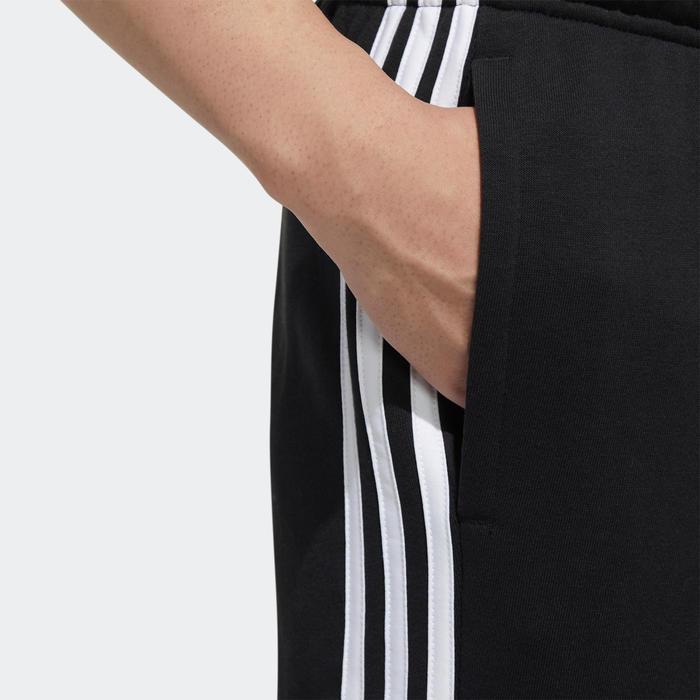 Pantalon de survêtement Adidas homme 3 bandes coupe droite noir