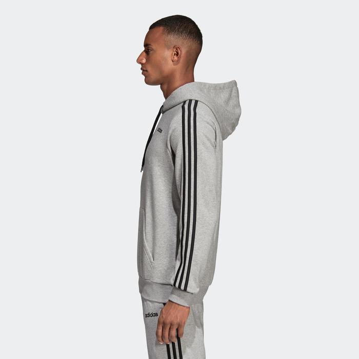 Sweat à capuche Adidas 3 Bandes Gris