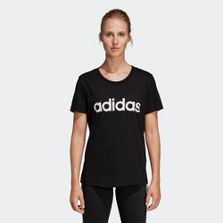 Camiseta Adidas slim mujer negro estampado