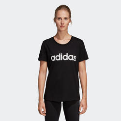 Gym T-shirt dames Slim zwart met print