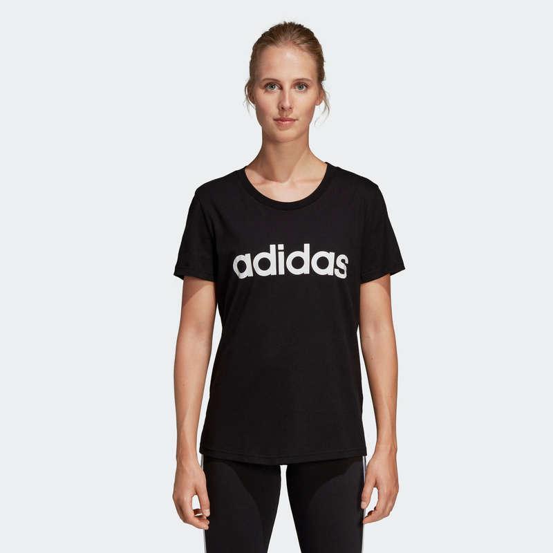 T-SHIRT, LEGGINGS, SHORT DONNA Ginnastica, Pilates - T-shirt donna ginnastica nera ADIDAS - Sport