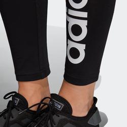 Dameslegging slim fit Adidas zwart met print
