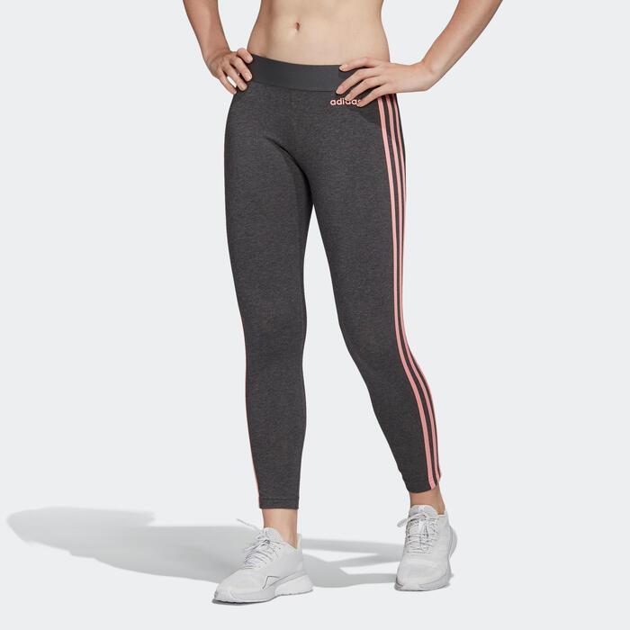Legging 3-stripes voor dames grijs/roze