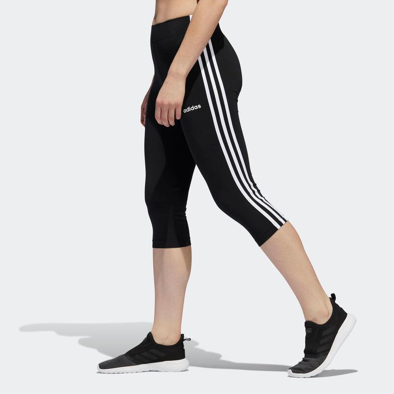 Mallas Leggins piratas Adidas mujer Essentials 3 negro