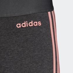 Legging Adidas 3 Bandes Femme Gris et Rose