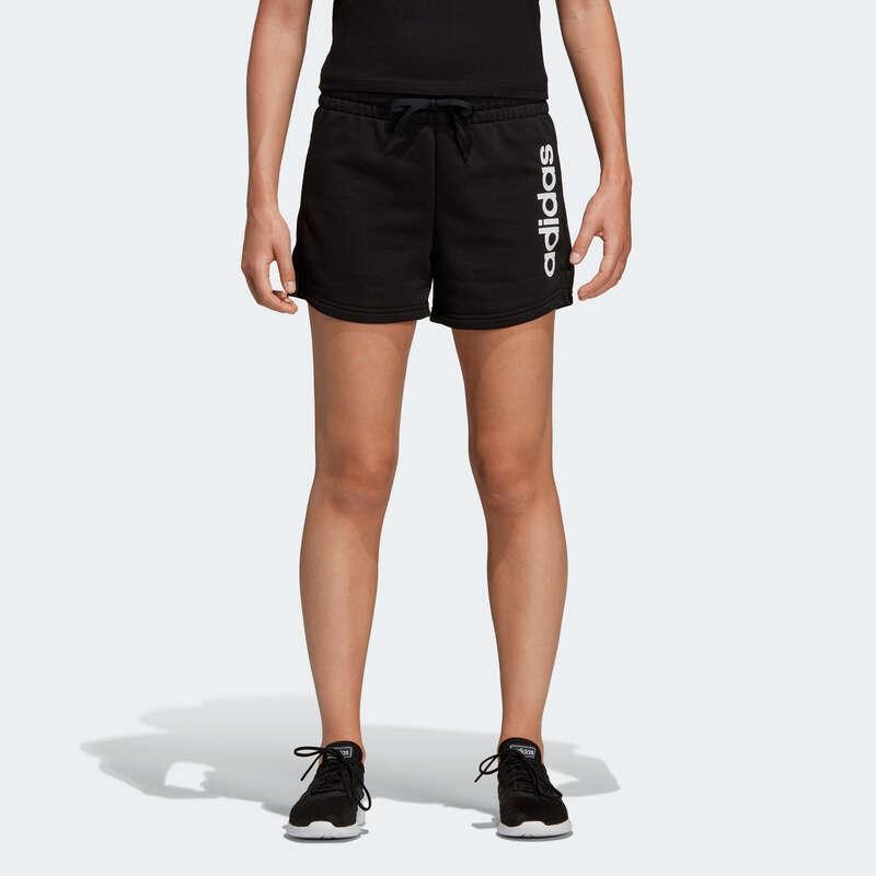 KLÄDER FÖR GYMNASTIK, PILATES, DAM Pilates - Shorts Adidas Dam svart tryck ADIDAS - Fitness, Gym, Dans 17