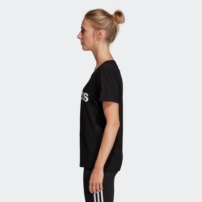 T-shirt voor dames zwart/opdruk