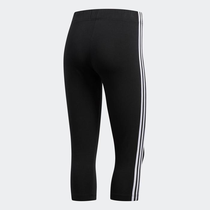 corsaire Adidas Essentials 3 bandes femme en coton noir