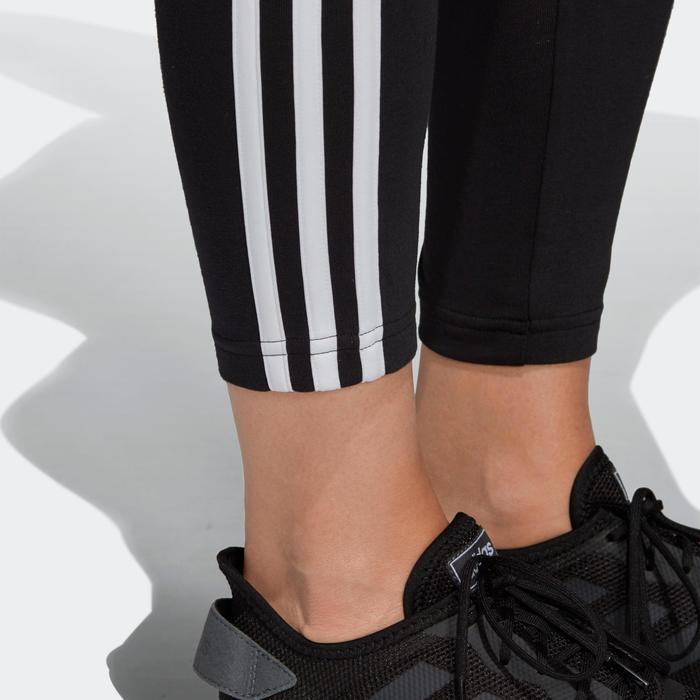 Legging voor dames 3-stripes slim fit zwart