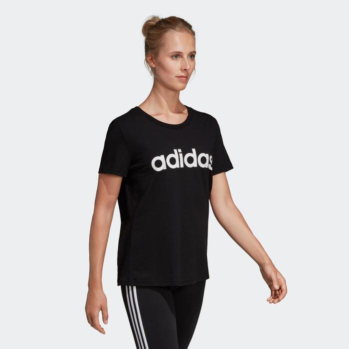 T-Shirt Adidas Femme Noir Imprimé