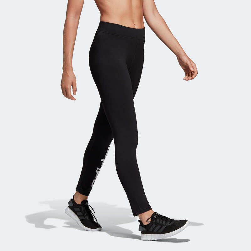 WOMAN T SHIRT LEGGING SHORT Fitness and Gym - Women's Leggings - Black Print ADIDAS - Gym Activewear