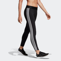 Legging voor dames 3-stripes slim fit zwart