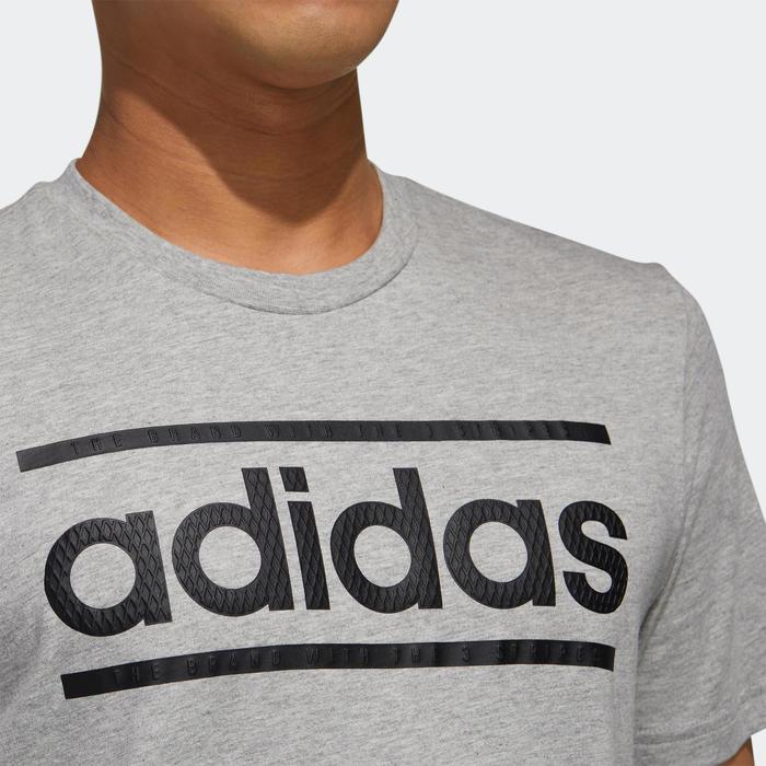 T-shirt voor heren grijs met logo