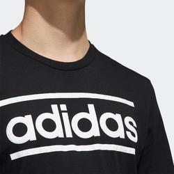 T-shirt voor heren zwart met logo